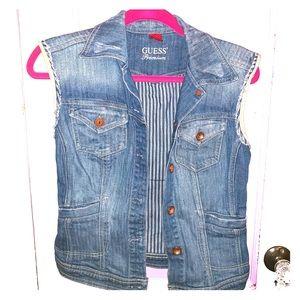 Guess Premium  sleeveless Jean Jacket